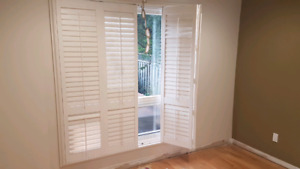 California shutters - large windows