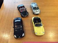 Die cast 1:18 scale model cars