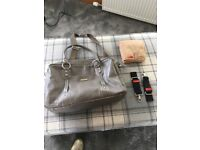 Storksak leather elizabeth baby bag