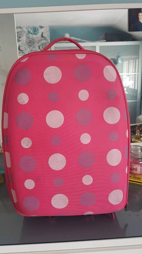 Pink spotty suitcase | in Edmonton, London | Gumtree