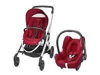 Maxi Cosi Elea Pushchair and Car Seat - Red