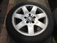 Genuine BMW 7 Spoke 16 inch Alloy Wheels With Good Run Flat Tyres 185/60 R16