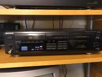 Sony CD player and cassette deck