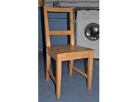 FourIKEA pine dining chairs