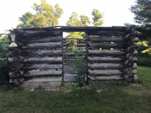 Red Pine Log Cabin Frame