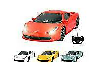 PTL® Ferrari Italia 458 Style RC Remote Control Car for Kids with Working Light