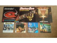 LOVELY ORIGINAL PRESSINGS COLLECTION OF 7 STATUS QUO ALBUMS & SINGLES VINYL IN NM CONDITION