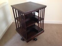 Antique revolving wooden bookcase