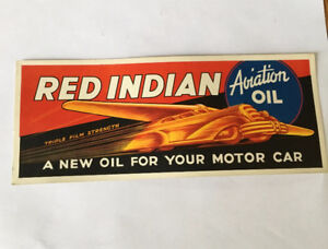 Red Indian aviation motor oil ad handout