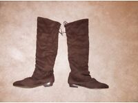 Size 8 brown boots, bought but too flat for me, lost receipt to return Collect or deliver Stonehaven
