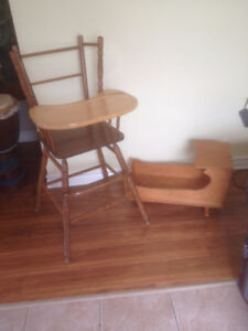 lovely wooden highchair, great shape