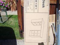 New boxed Malibu pine effect desk