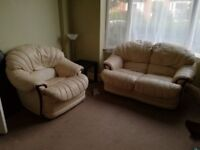 Lovely leather sofas for sale, available now,
