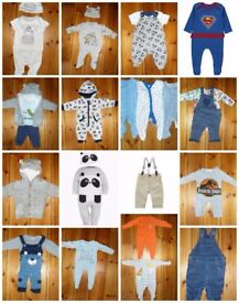 Baby Boys Bundle Age 0-3 Months 38 Items Next F&F, Nutmeg And More