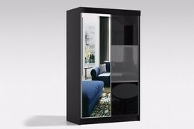 All Sizes Available From Small to Large!!!- NEW HIGH GLOSS Rumba Sliding 2 Door German Wardrobe -