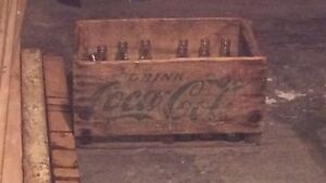 Caisse de bois  coca cola