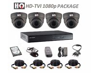 HD-TVI VARIFOCAL 1080p COMPLETE KIT - 4 x HQ TECHNOLOGY CAMERAS AND HIKVISION DVR