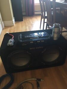 """MTX audio jack hammer two 12"""" subs with accessories"""
