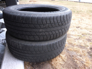 2 tires 225 60 18 all season, approx. ~30% treads left