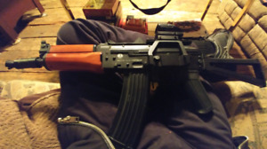 Ak 74 u with scope airsofting