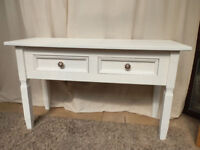 2 Drawer Pine Console Table