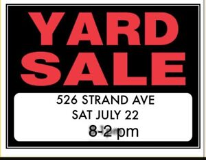 5 FAMILY YARD SALE SAT JULY 22nd 8-2pm