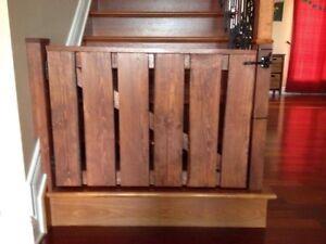Clôture en bois/ wood fence