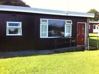 2 bedroomed holiday chalet on family orientated site