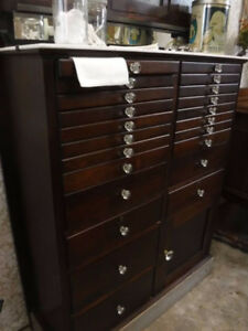 Beautiful Antique Vintage Dental Cabinet with over 22 Drawers