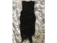 full head, triple weft, 22 inch, dark brown hair extensions