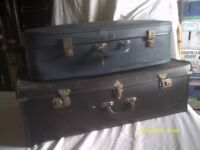 SUITCASES a HUGE BLACK , a BLUE + a VERY LONG BLACK and an ALUMINIUM LIGHTWEIGHT ++