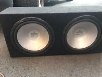 """Two 12"""" subs and 1000w amp"""