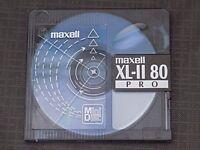 10 x MAXELL XL-II 80 PRO BLANK RECORDABLE MINI DISCS 80 MINUTES