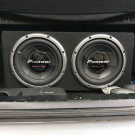 Pioneer bass speakers