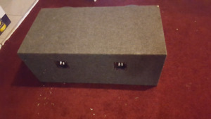 Two 12 inch ported sub box