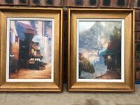 For Sale x 2 Cafe Scenes Paintings