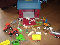 Farmyard Barn and lots of tractors and animals
