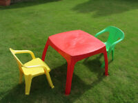 Children's PVC table and chairs
