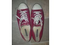 Ladies Red Converse All Star Trainers Size 6 Genuine