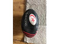 Signed Saracens rugby ball