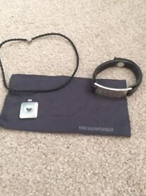 Rare Armani necklace and bracelet