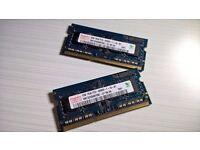 4GB (2X2GB) Hynix DD3 1Rx8 PC3-8500S Laptop Memory RAM Module