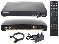 2 x Openbox V8s freesat box with remote, hdmi cable and power cable. £25