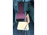 LaFuma Reflexologist Recliner Chair with Therapist Stool - Never used - £50