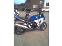 GSX650F Blue and silver 2011