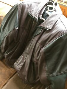 Two leather coats (S & L)