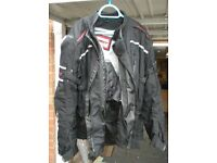 Scott Leathers textile motorcycle jacket (42L) and trousers (L)