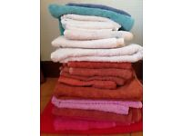 Towels; selection of colours and sizes