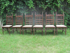 SET 6 ANTIQUE DINING CHAIRS