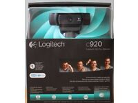 Logitech HD Pro Webcam c920 Brand New In Box - Full HD streaming with stereo audio